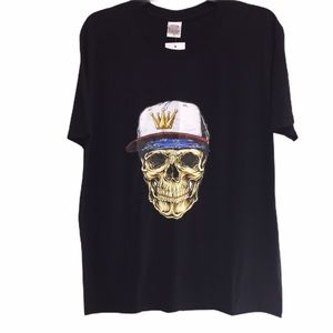 Men's Skull Graphic Tee XL NWT